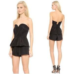 Finders Keepers Black Sweetheart Strapless Romper